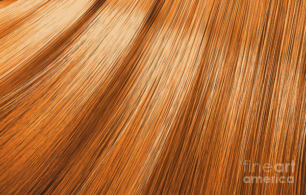 Wall Art - Digital Art - Ginger Hair Blowing Closeup by Allan Swart