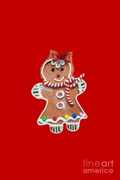 Photograph - Gingerbread Cookie Girl by Rachel Hannah