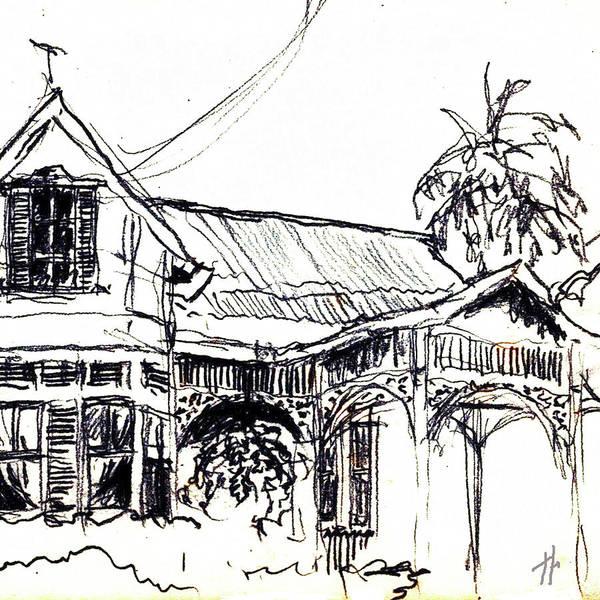 Trinidad Drawing - Gingerbread Gallery by Linda Louison