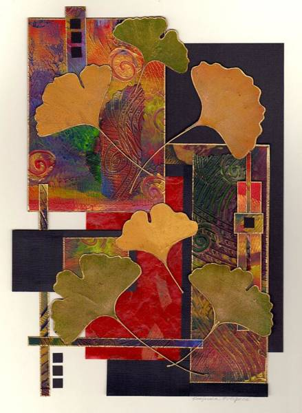 Mixed Media - Ginko Love by Koka Filipovic