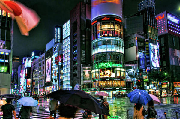 Ginza Wall Art - Photograph - Ginza In The Rain, Tokyo by Copyright Artem Vorobiev