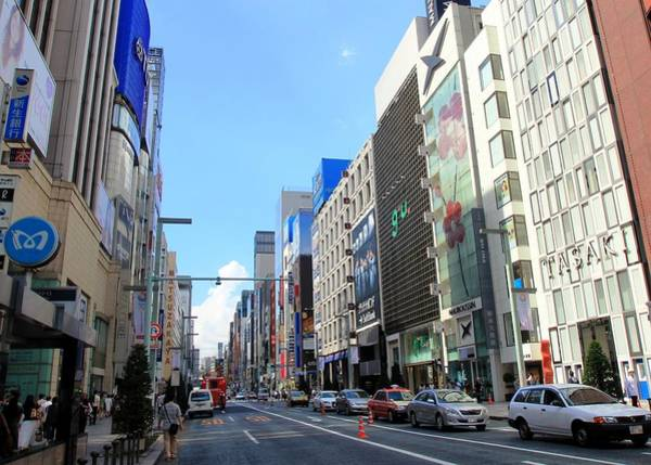 Ginza Wall Art - Photograph - Ginza Street View by J.castro
