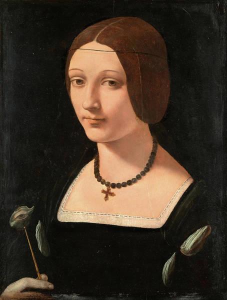 Saint Lucia Painting - Giovanni Antonio Boltraffio -milan, Ca. 1467-1516-. Portrait Of A Lady As Saint Lucy -ca. 1509-. ... by Giovanni Antonio Boltraffio -c 1467-1516-