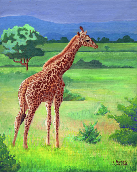 Painting - Giraffe by Adam Johnson