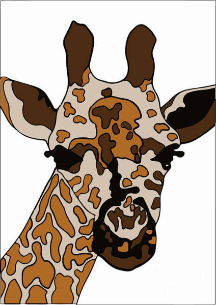 Wall Art - Digital Art - Giraffe by Karen Elzinga