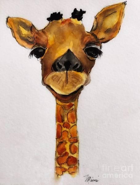 Painting - Giraffe Love by Marcia Breznay