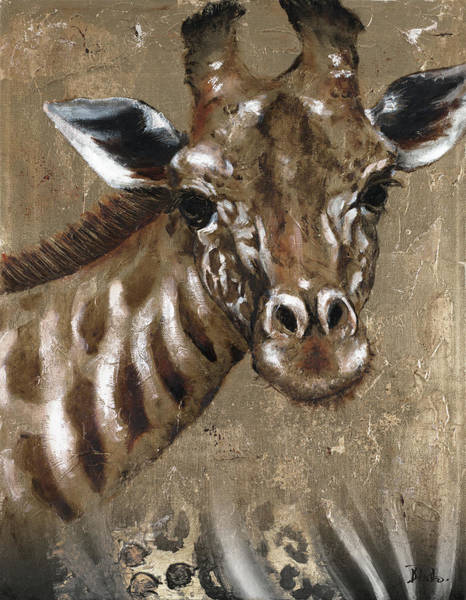 Wall Art - Painting - Giraffe On Print by Patricia Pinto