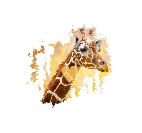 Photograph - Giraffe T-shirt, Giraffe Mug, Giraffe Gift, by David Millenheft