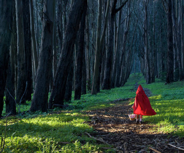 Little People Photograph - Girl 4-5 Dressed As Little Red Riding by John Lund