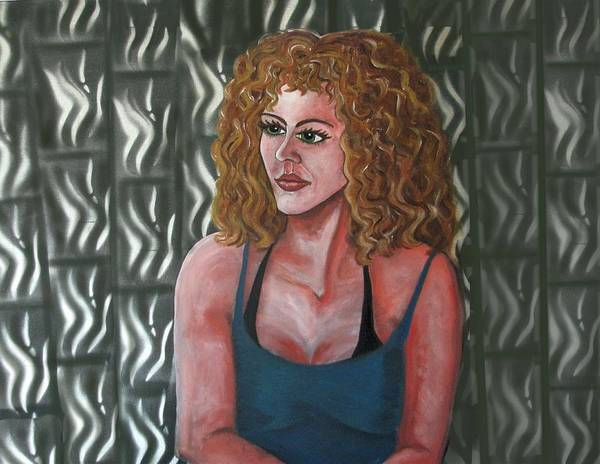 Painting - Girl And Tiles by Joan Stratton