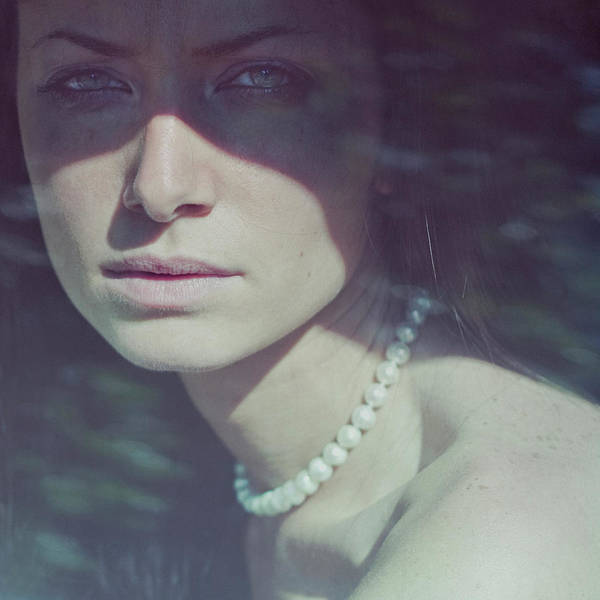 Real People Photograph - Girl Behind Glass by Valerio Boncompagni