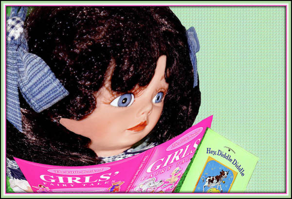 Wall Art - Mixed Media - Girl Doll Reading by Constance Lowery