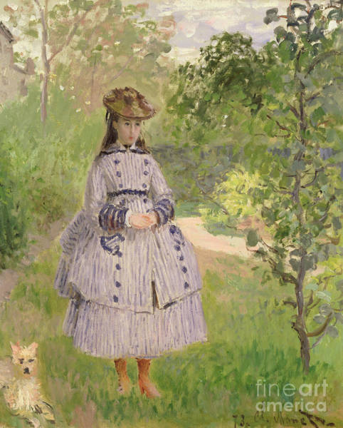 Wall Art - Painting - Girl In A Garden, 1873  by Claude Monet