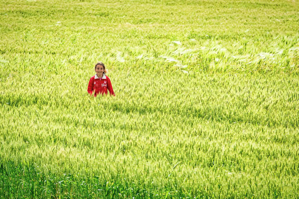 Photograph - Girl In A Grass Field - Morocco by Stuart Litoff
