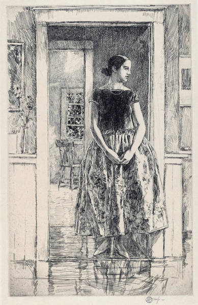 Wall Art - Painting - Girl In A Modern Gown - Digital Remastered Edition by Frederick Childe Hassam