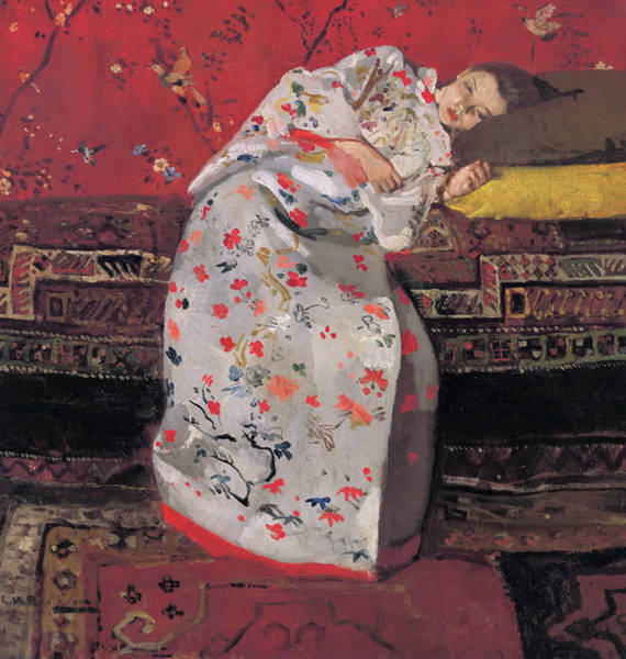 Kimono Painting - Girl In A White Kimono - Top Quality Image Edition by George Hendrik Breitner