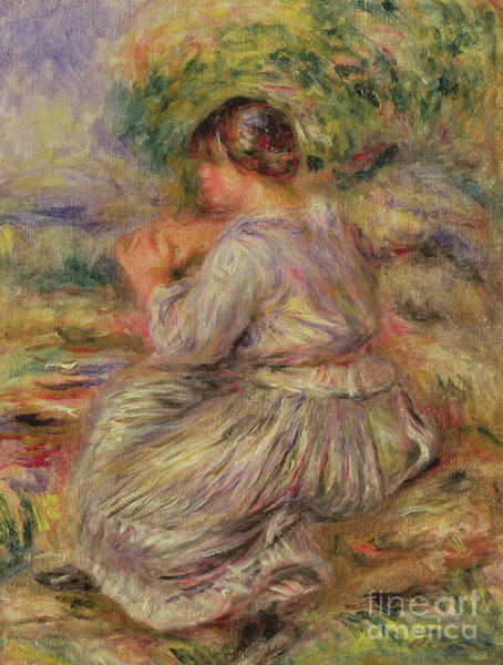 Wall Art - Painting - Girl In Landscape Circa 1914 by Pierre Auguste Renoir