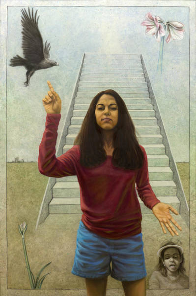 Painting - Girl Of Potential by James W Johnson