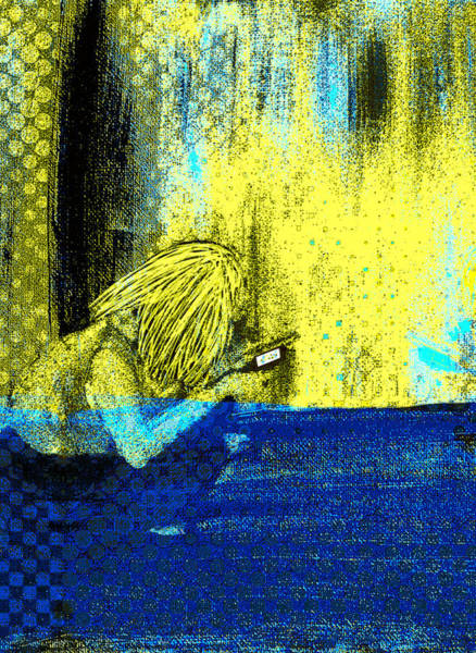 Digital Art - Girl On Phone Pop Art by Joy McKenzie - Abbie Shores