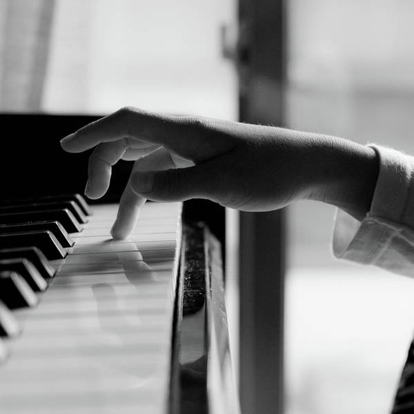 Piano Photograph - Girl Playing Piano by Edward Wijaya