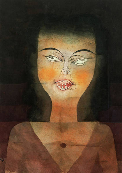 Wall Art - Painting - Girl Possessed, 1924 by Paul Klee