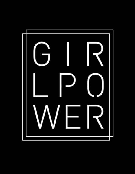 Wall Art - Mixed Media - Girl Power - Classy, Minimal Typography 2 by Studio Grafiikka