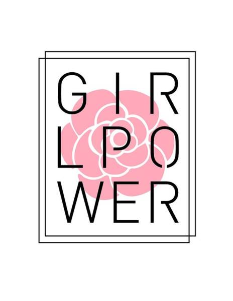 Wall Art - Mixed Media - Girl Power - Classy, Minimal Typography 3 by Studio Grafiikka