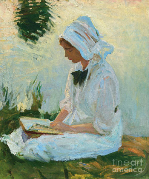 Wall Art - Painting - Girl Reading By A Stream, Circa 1888 by John Singer Sargent