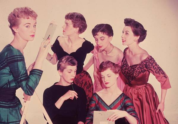 Kitsch Photograph - Girl Talk by Chaloner Woods