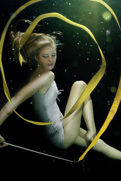 Underwater Photograph - Girl Underwater In Swimming Pool by Zena Holloway