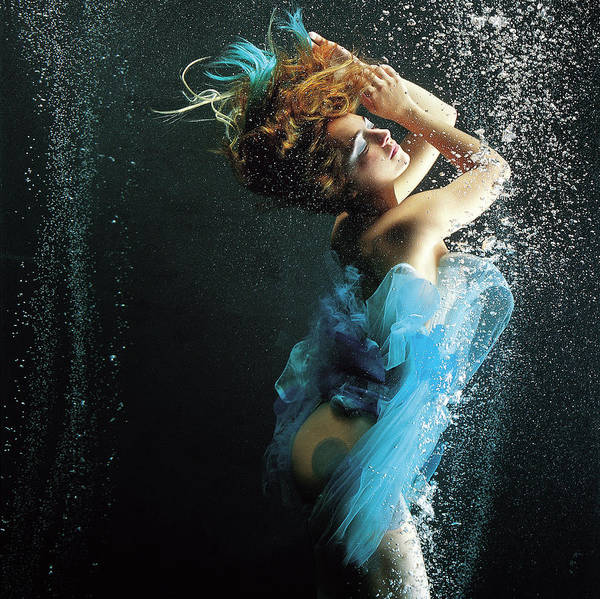 Underwater Photograph - Girl Underwater by Patrizia Savarese