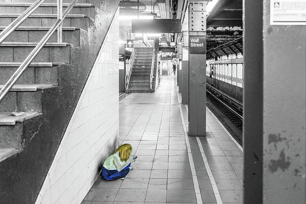 Photograph - Girl Waiting For The Train by Sharon Popek