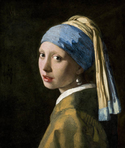 Wall Art - Painting - Girl With A Pearl Earring, 1665 by Johannes Vermeer