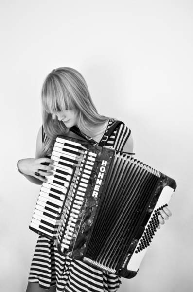 Bangs Photograph - Girl With Accordio by Elizabeth Livermore