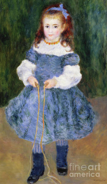 Wall Art - Painting - Girl With Jumping Rope, 1876 by Pierre Auguste Renoir