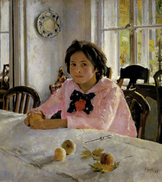 Russian Impressionism Wall Art - Painting - Girl With Peaches - Portrait Of V.s. Mamontova by Valentin Serov