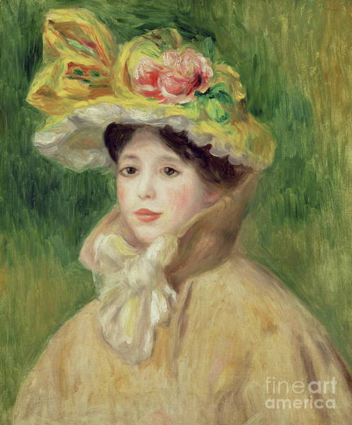 Wall Art - Painting - Girl With Yellow Cape, 1901 by Pierre Auguste Renoir