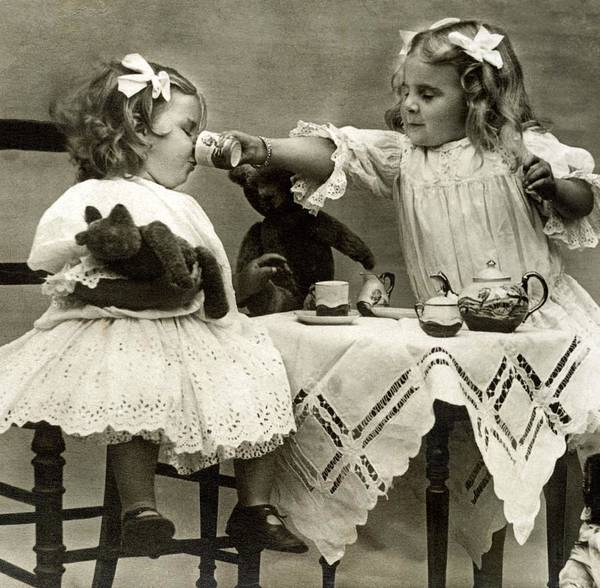 Tea Photograph - Girls At Tea Party by Jupiterimages