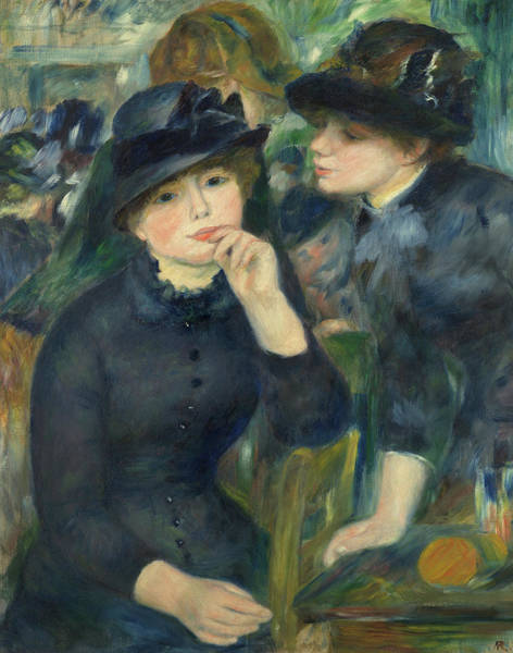 Wall Art - Painting - Girls In Black, 1880 by Pierre-Auguste Renoir