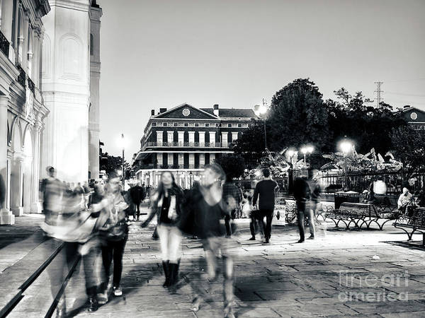 Photograph - Girls Night At Jackson Square In New Orleans by John Rizzuto