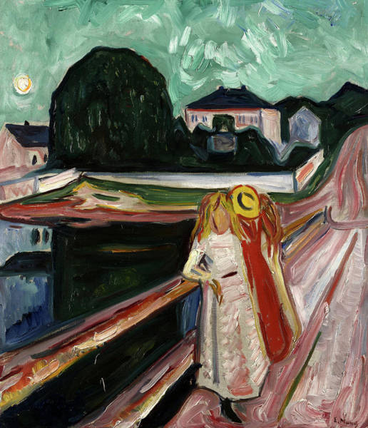 Wall Art - Painting - Girls On The Pier, 1904 by Edvard Munch