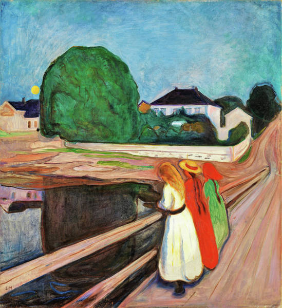 Wall Art - Painting - Girls On The Pier - Digital Remastered Edition by Edvard Munch