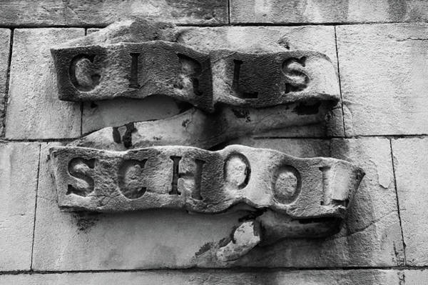 Photograph - Girls School Stone Carving by Helen Northcott