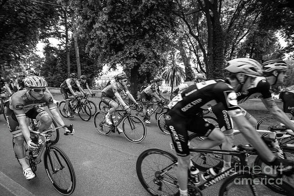 Wall Art - Photograph - Giro - Cyclists In The Race. by Stefano Senise