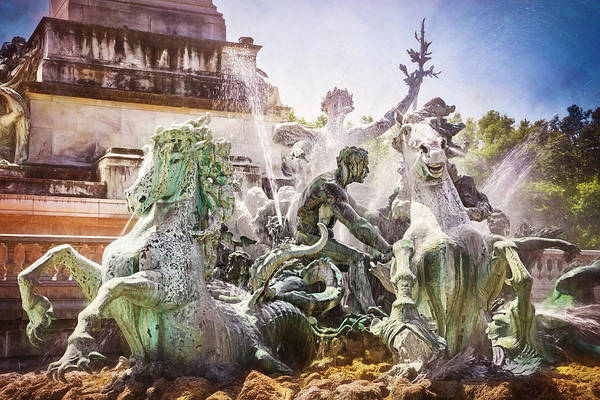 Wall Art - Photograph - Girondins Fountain Bordeaux France  by Carol Japp