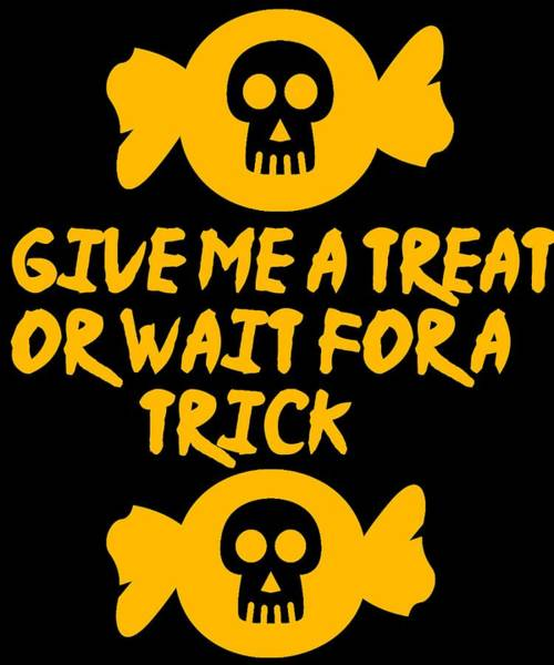 Thanksgiving Dinner Digital Art - Give Me A Treat Or Wait For A Trick3 by Kaylin Watchorn