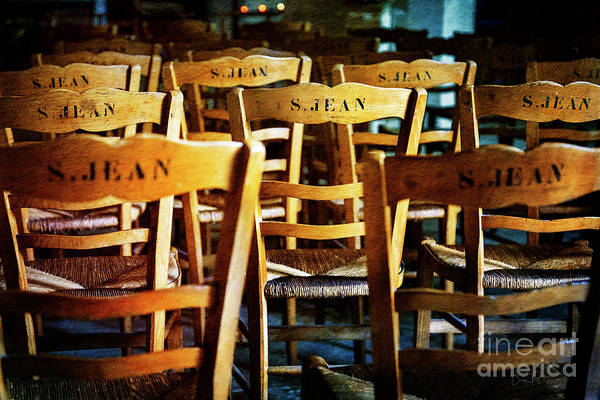 Photograph - Givenry's S.jean Church Chair by Craig J Satterlee