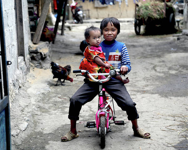 Wall Art - Photograph - Giving Sister A Ride by Michael Riley