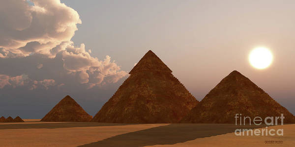 Wall Art - Digital Art - Giza Plateau by Corey Ford
