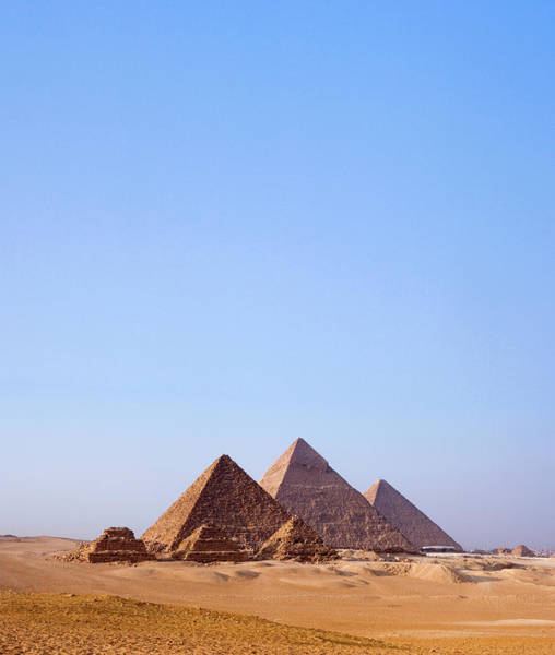 Giza Photograph - Giza, Pyramids Of Egypt In Desert by Stephen Studd